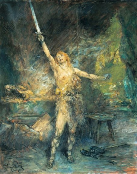 Wagner, Siegfried / Gem.v.Leeke - Wagner, Siegfried / Painting by Leeke -